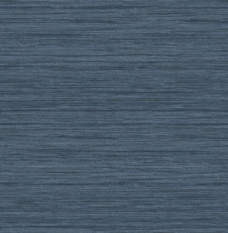 Barnaby Faux Grasscloth Wallpaper in Indigo from the Scott Living Collection by Brewster Home Fashions