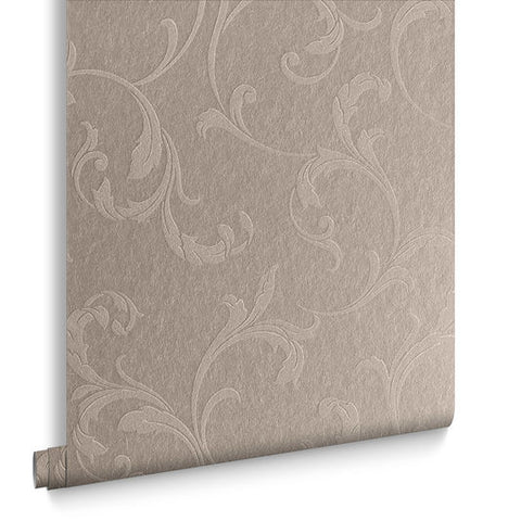 Baroque Bead Wallpaper in Champagne from the Exclusives Collection by Graham & Brown
