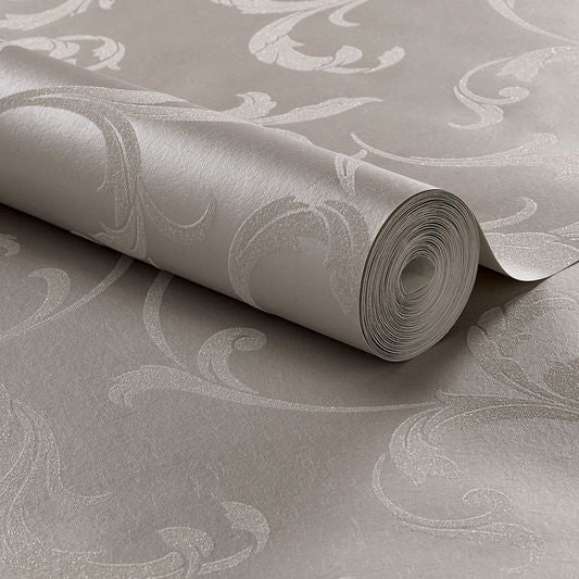 Sample Baroque Bead Wallpaper in Platinum from the Exclusives Collection by Graham & Brown