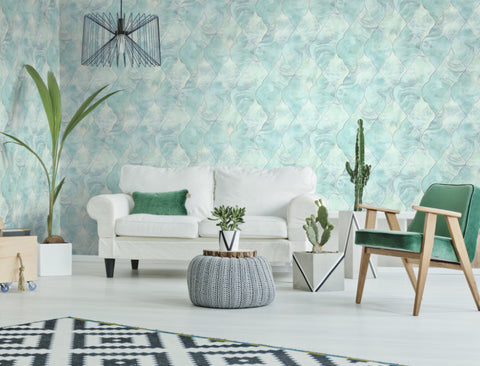 Baroque Glass Wallpaper from the Aerial Collection by Mayflower Wallpaper