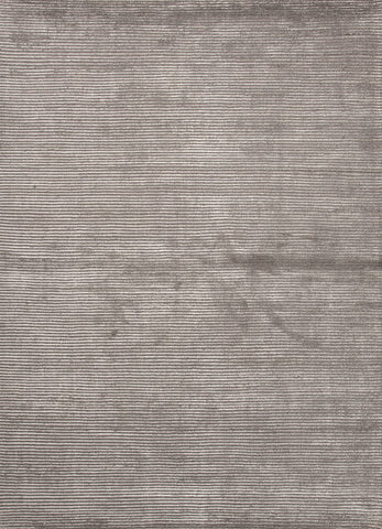 Basis Collection Wool and Art Silk Area Rug in Medium Grey design by Jaipur