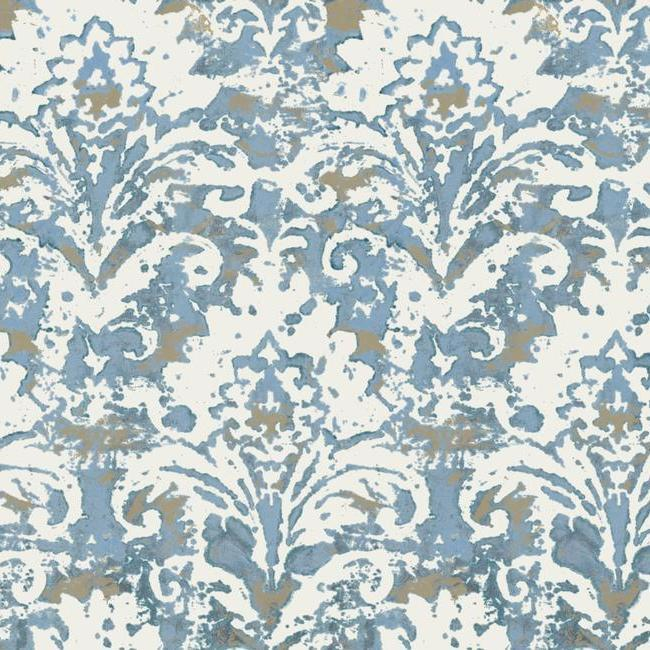 Batik Damask Wallpaper from the Impressionist Collection by York Wallcoverings