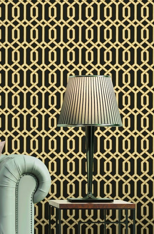 Bea Textured Geometric Wallpaper by BD Wall