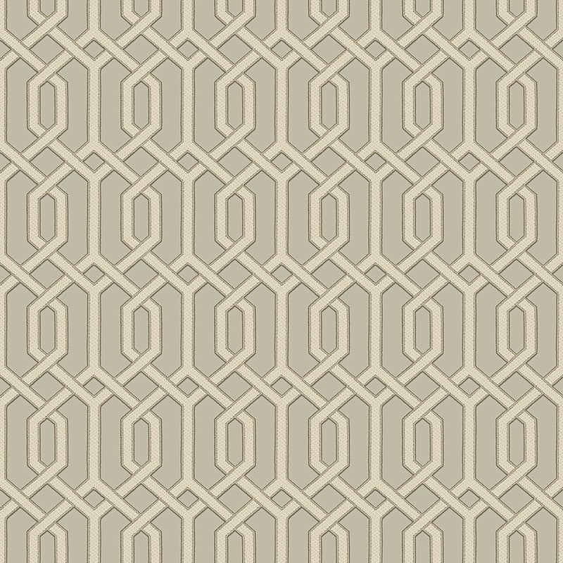 Sample Bea Textured Geometric Wallpaper in Bronze and Champagne by BD Wall