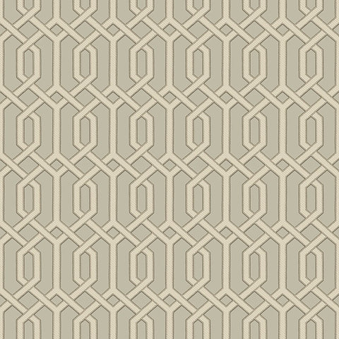 Bea Textured Geometric Wallpaper in Bronze and Champagne by BD Wall