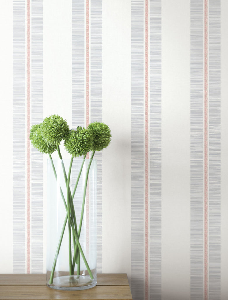 Beach Towel Wallpaper in Pink Sunset from the Beach House Collection by Seabrook Wallcoverings