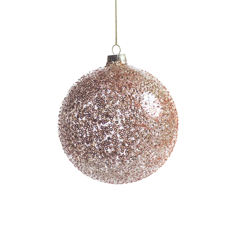 Beaded Holiday Ball Ornament