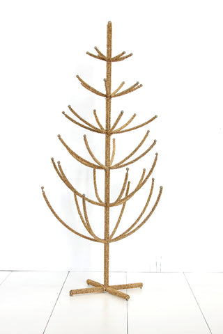 Beaded Tree Large in Gold Holiday Decor by Cody Foster & Co.
