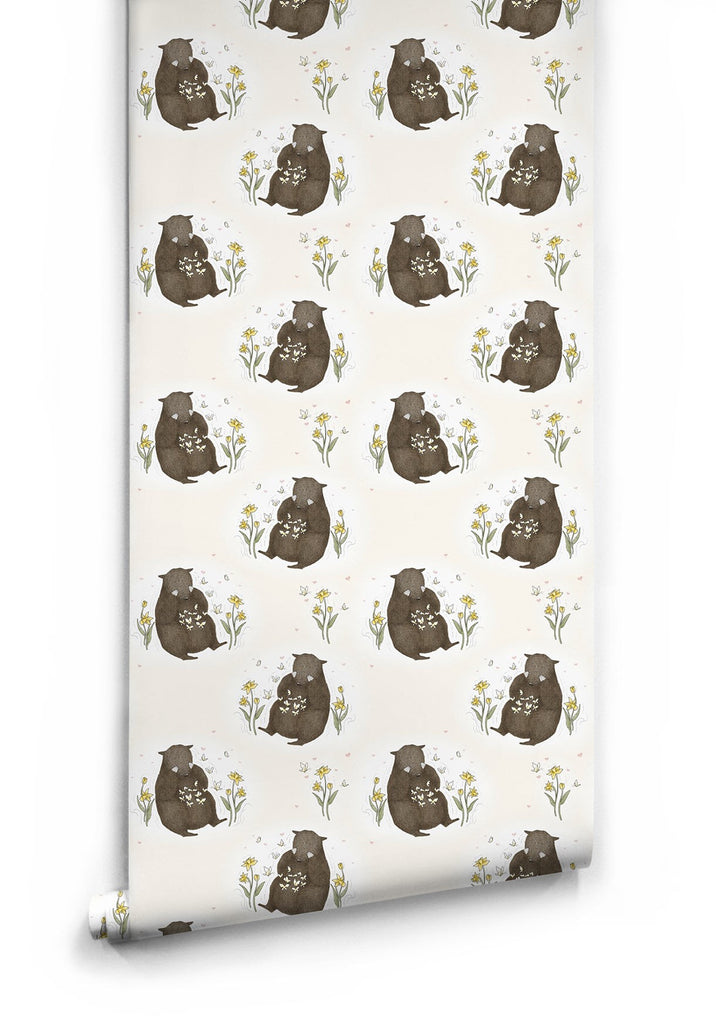 Sample Bear & Butterfly Wallpaper by Muffin & Mani for Milton & King
