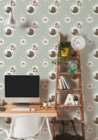 Bear & Squirrel Wallpaper by Muffin & Mani for Milton & King