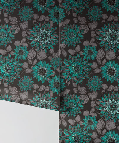 Beatrice Wallpaper in Green from the Wallpaper Republic Collection by Milton & King