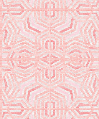 Bedouin Wallpaper in Coral by Sixhands for Milton & King