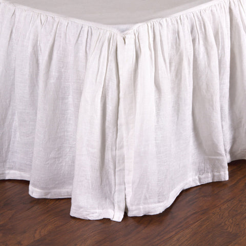 Linen Voile Bedskirt in White design by Pom Pom at Home