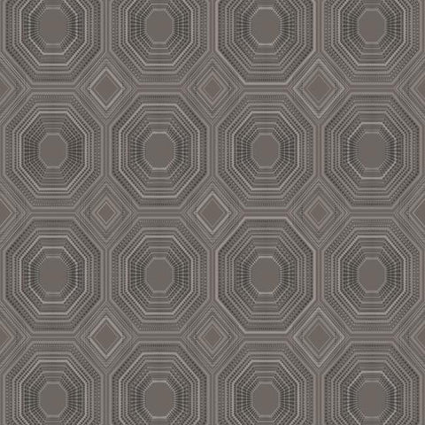 Sample Bee's Knees Peel & Stick Wallpaper in Grey and Black by RoomMates for York Wallcoverings