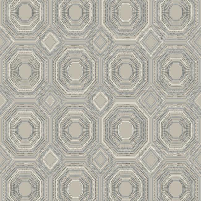 Bee's Knees Peel & Stick Wallpaper in Silver by RoomMates for York Wallcoverings