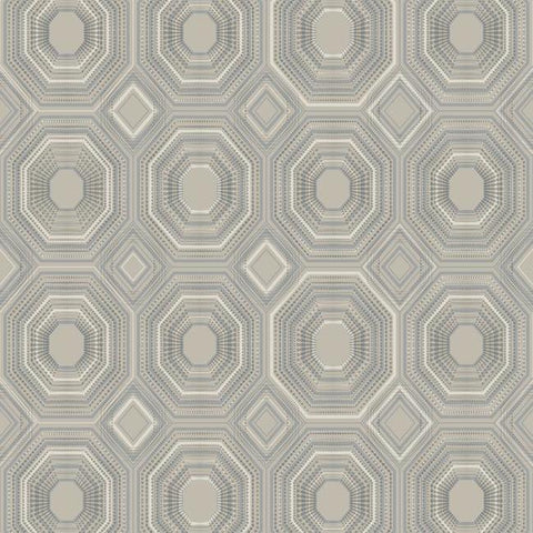 Sample Bee's Knees Peel & Stick Wallpaper in Silver by RoomMates for York Wallcoverings