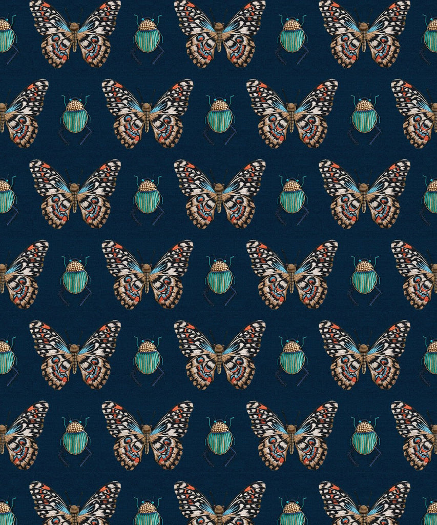 Beetle & Butterfly Wallpaper from the Wallpaper Republic Collection by Milton & King