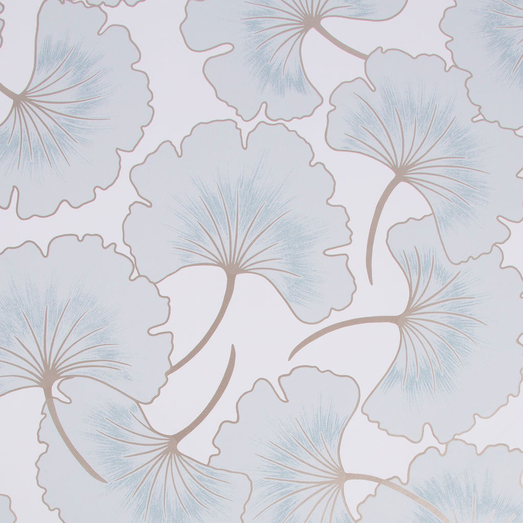 Sample Begonia Wallpaper in Blue from the Capsule Collection by Graham & Brown