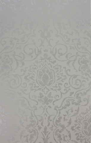 Belem Wallpaper in Grey and Silver by Nina Campbell for Osborne & Little