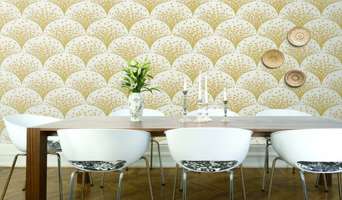 Bella Textured Tile Effect Wallpaper by BD Wall