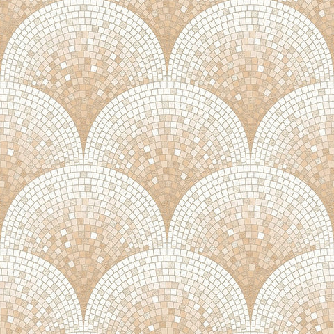 Bella Textured Tile Effect Wallpaper in Rose Gold by BD Wall