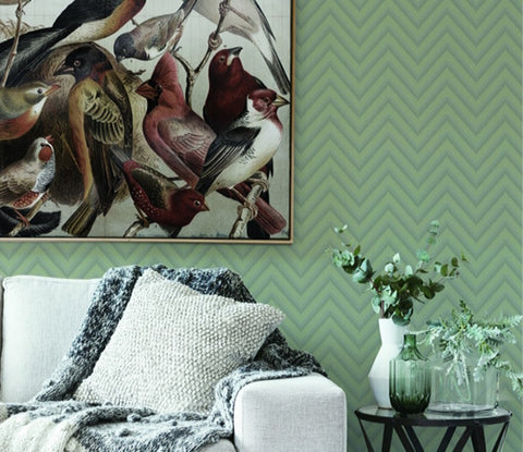 Bellona Textured Chevron Wallpaper by BD Wall