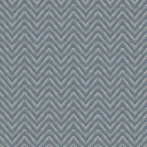 Bellona Textured Chevron Wallpaper in Blue and Metallic by BD Wall