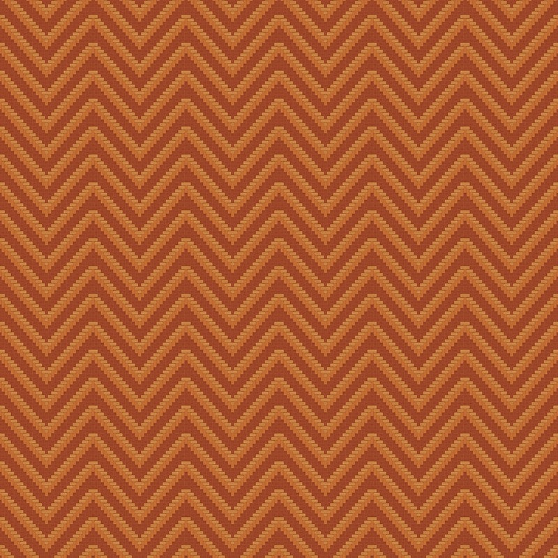 Sample Bellona Textured Chevron Wallpaper in Red and Bronze by BD Wall