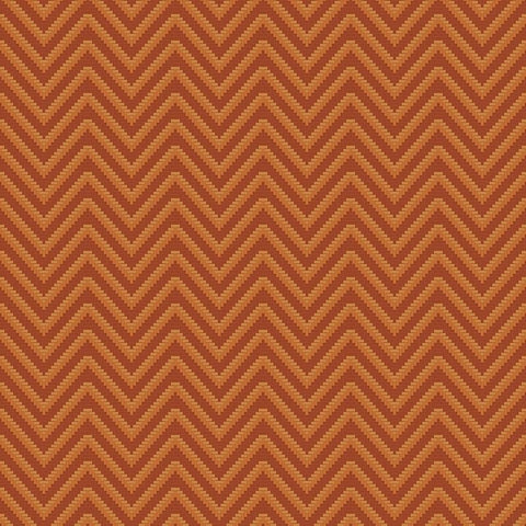 Bellona Textured Chevron Wallpaper in Red and Bronze by BD Wall