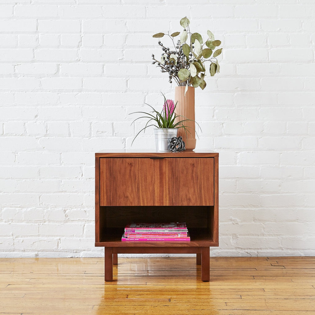 Belmont End Table in Walnut design by Gus Modern