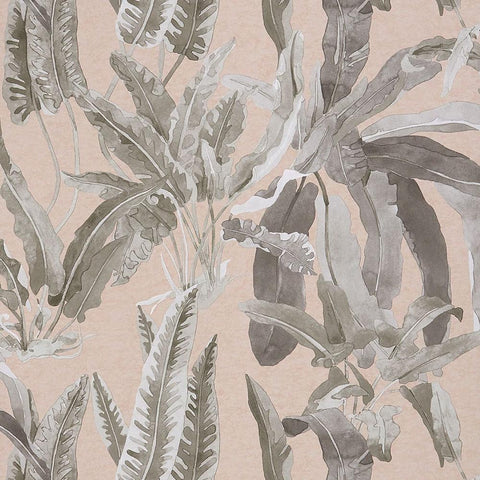 Benmore Wallpaper in Blush and Grey from the Ashdown Collection by Nina Campbell for Osborne & Little