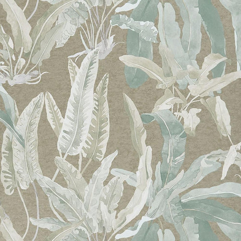 Benmore Wallpaper in Eau De Nil and Gilver from the Ashdown Collection by Nina Campbell for Osborne & Little