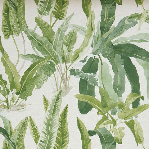 Benmore Wallpaper in Green and Ivory from the Ashdown Collection by Nina Campbell for Osborne & Little
