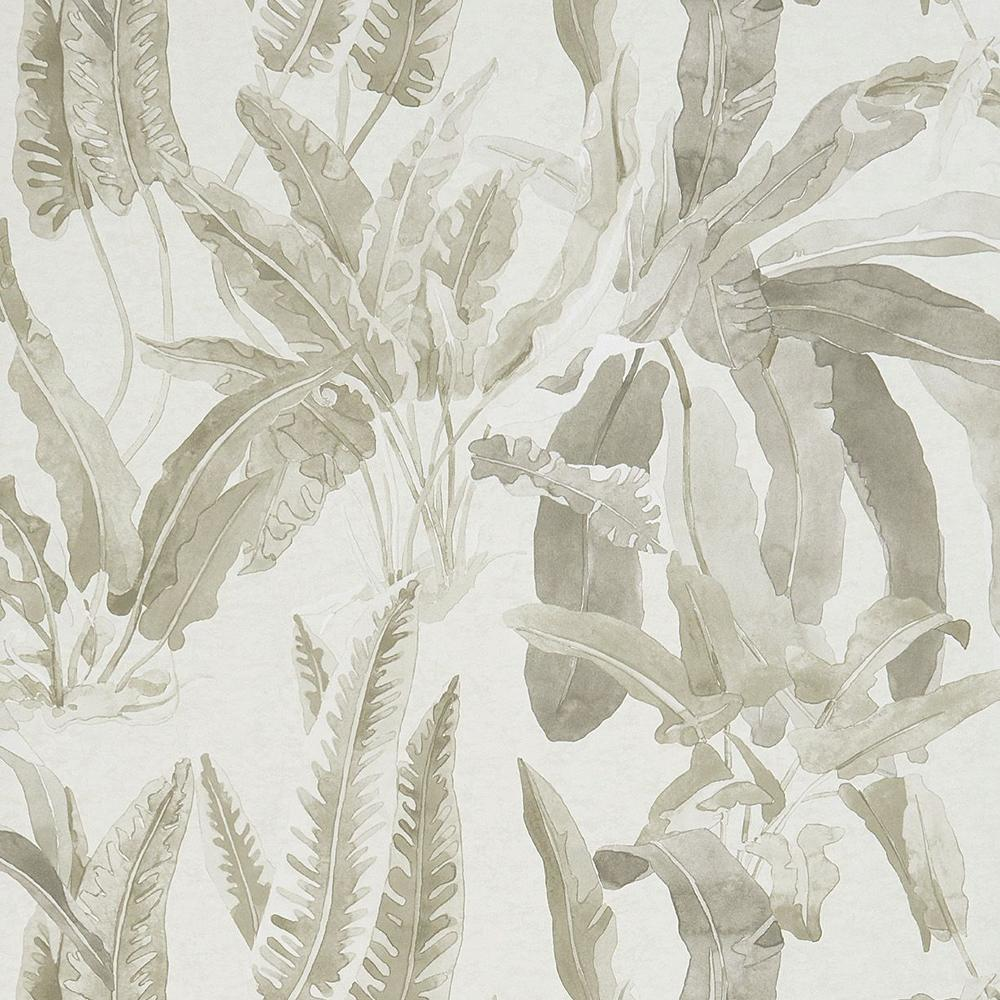 Benmore Wallpaper in Grey and Ivory from the Ashdown Collection by Nina Campbell for Osborne & Little