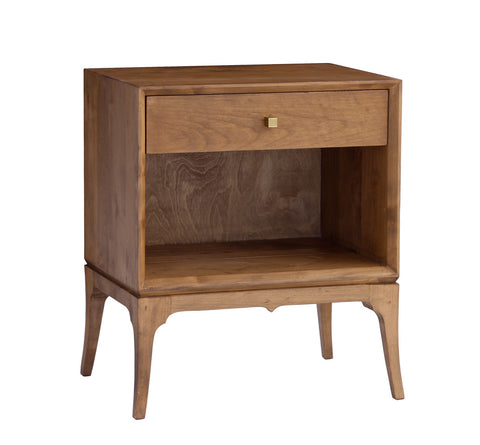 Bennett 1 Drawer Nightstand in Almond design by Redford House