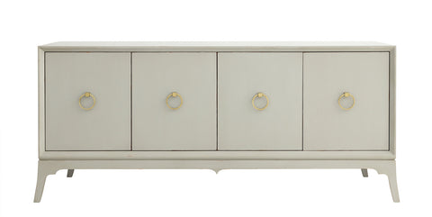 Bennett Entertainment Console in French Grey design by Redford House
