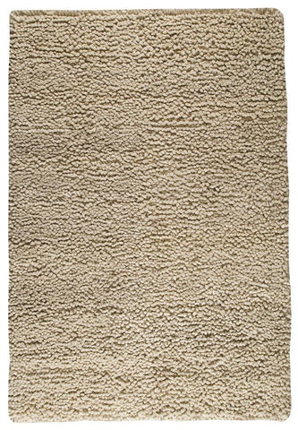 Berber Collection Hand Woven Wool Shag Area Rug in White design by Mat the Basics