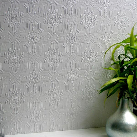 Berkeley Paintable Anaglypta Wallpaper design by Brewster Home Fashions
