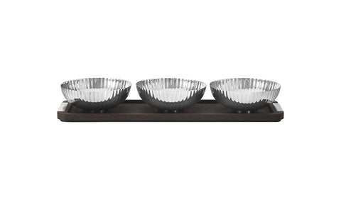Bernadotte Triple Bowl Set in Stand