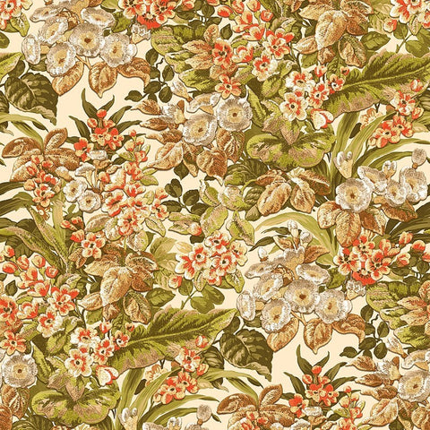 Bessie Textured Floral Wallpaper in Green Multi by BD Wall