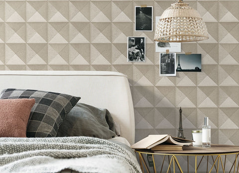 Bethany Textured 3D Effect Wallpaper by BD Wall