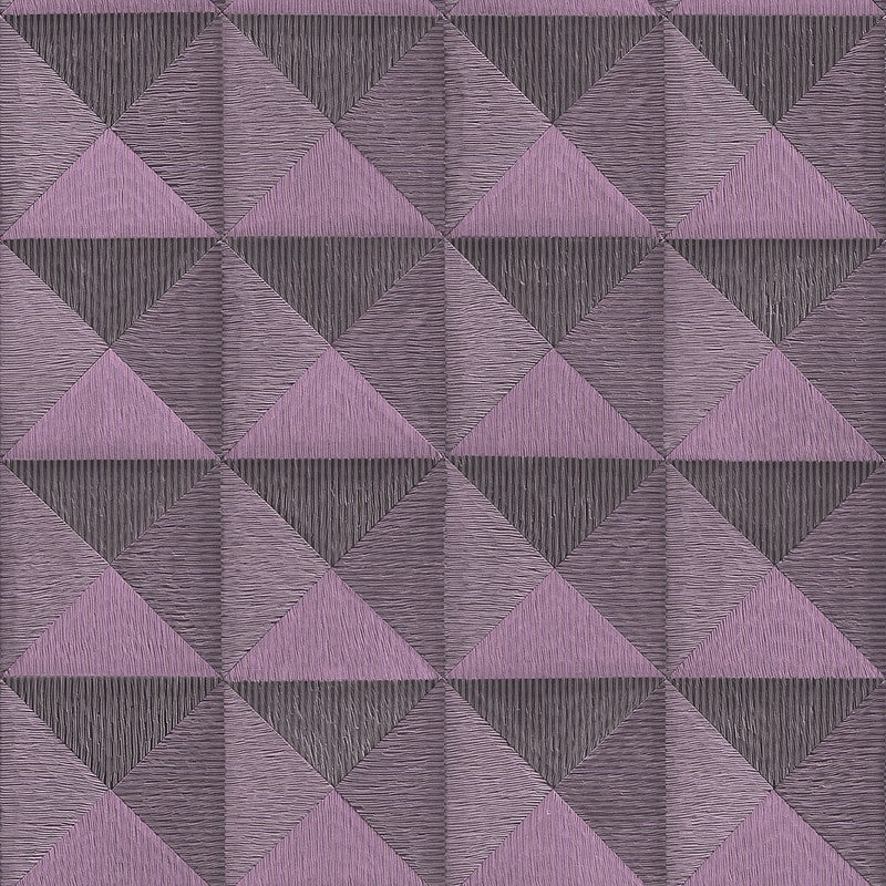 Bethany Textured 3D Effect Wallpaper in Metallic Purple by BD Wall