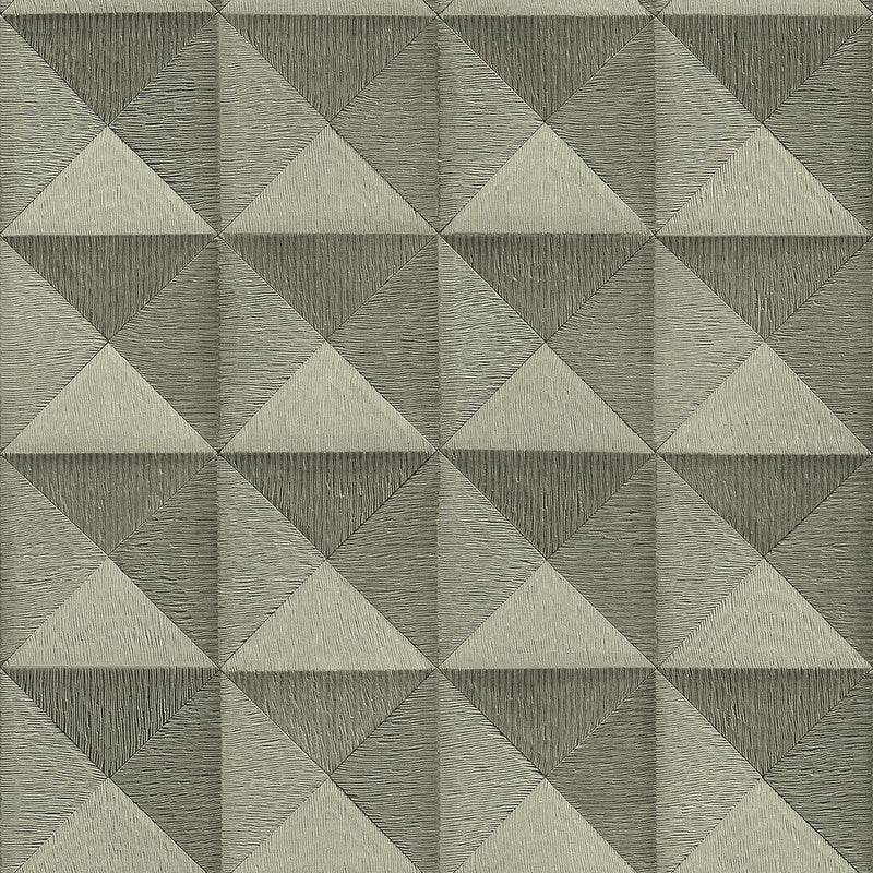 Sample Bethany Textured 3D Effect Wallpaper in Pewter by BD Wall
