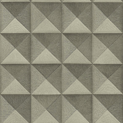 Bethany Textured 3D Effect Wallpaper in Pewter by BD Wall