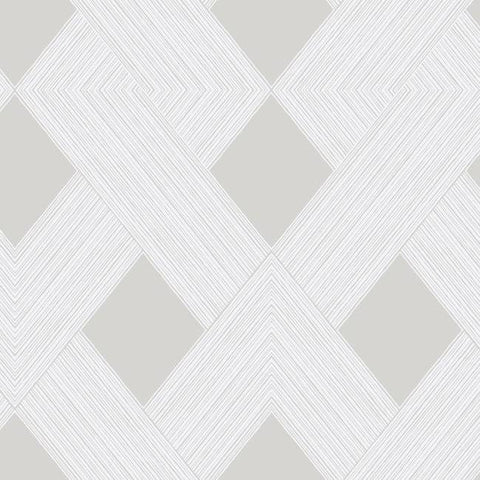 Sample Beveled Edge Wallpaper in Greige from the Geometric Resource Collection by York Wallcoverings