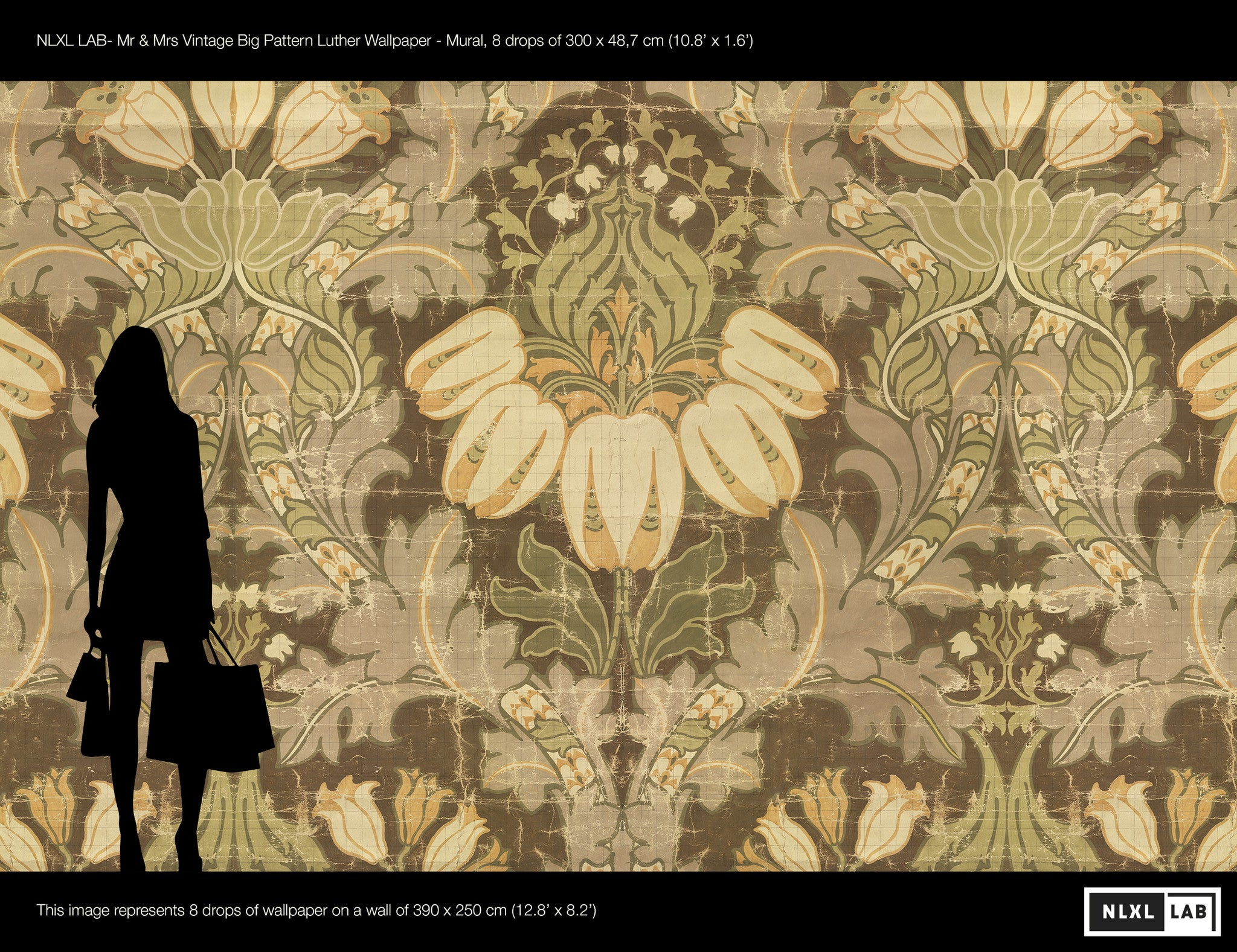 Big Pattern Luther Wall Mural by Mr. and Mrs. Vintage for NLXL ...