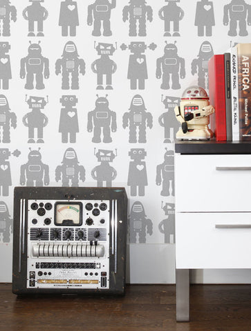 Big Robots Wallpaper in Tin design by Aimee Wilder