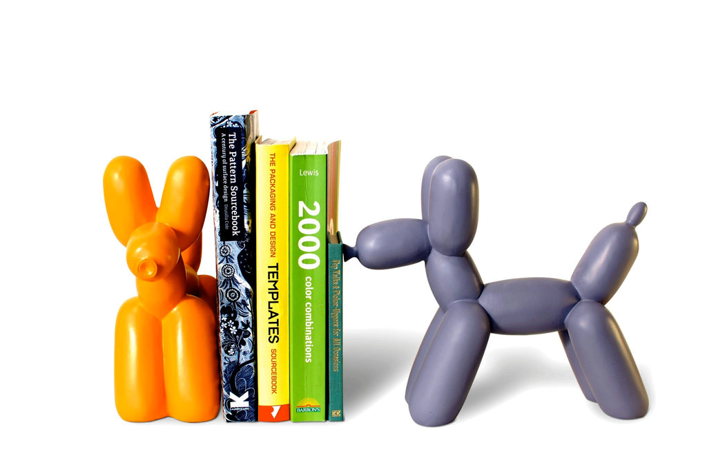 Big Top Ceramic Balloon Dog Bookend - Cream design by imm Living