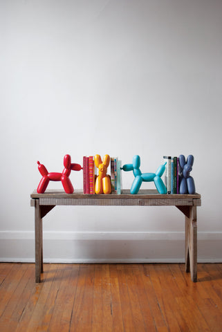 Big Top Balloon Dog Bookend - Teal
