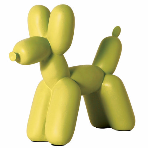 Big Top Balloon Dog Bookend in Chartreuse design by imm Living